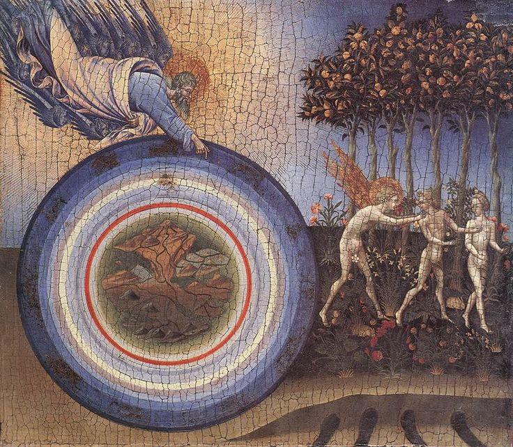 Создание и изгнание из рая. 1445 г. Джованни ди Паоло Музей Метрополитен, Нью-йорк. Темпера по золоту на дереве.
