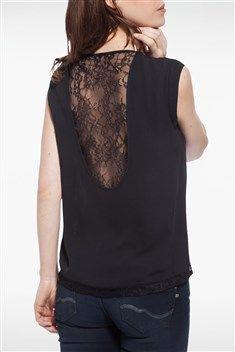 T-shirt femme dentelle dos