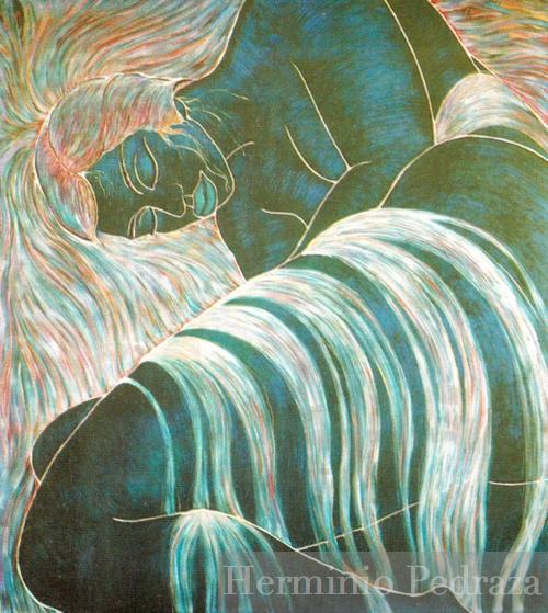 """""""Sueño Azul"""", Herminio Pedraza Private Colección"""