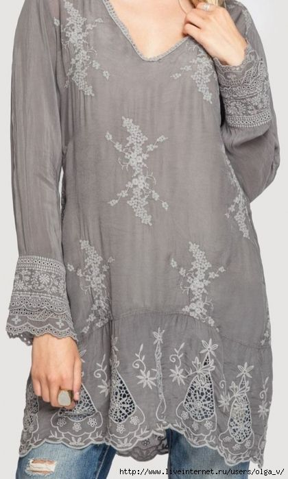 Grey tunic, for sewing inspiration.
