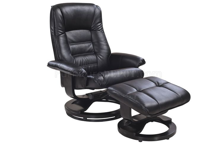 Reclining Leather Chair with Ottoman - Real Wood Home Office Furniture Check more at http://invisifile.com/reclining-leather-chair-with-ottoman/