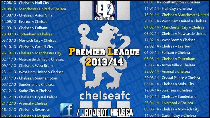 Chelsea fixtures 2013-14