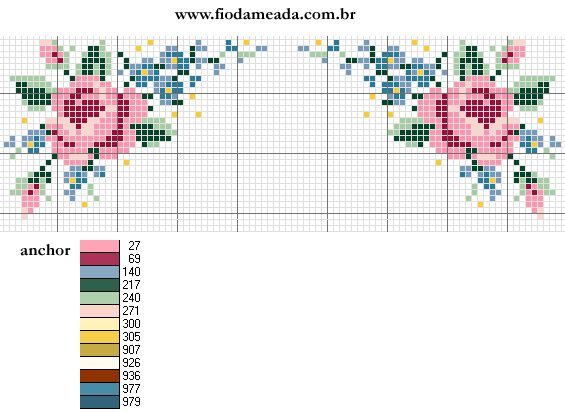 romantic retrò border floral decoration