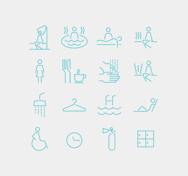 Spa Iconography System on Behance