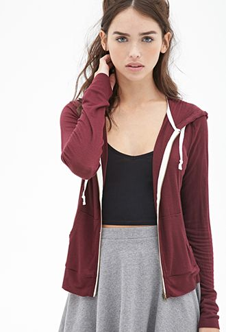 Classic Zip-Up Hoodie.. so the model looks super weird, but the color of the hoodie is really cute: