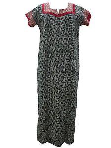 Cotton Long Maxi Black Maroon Cotton Nighties FOR Women'S | eBay