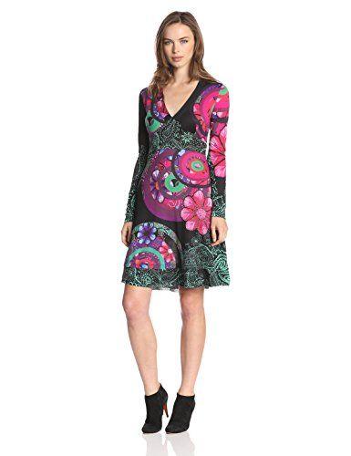 Desigual Women's Estiv Long Sleeve Dress, Black, Size 18 (Manufacturer Size:XX-Large) Desigual http://www.amazon.co.uk/dp/B00JF3FX3C/ref=cm_sw_r_pi_dp_hgM0ub0KG63NS