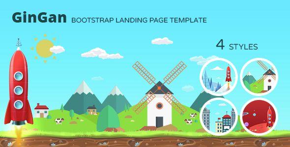GinGan - Bootstrap Landing Page Template (Marketing) - http://buyonlinewebsite.com/gingan-bootstrap-landing-page-template-marketing/