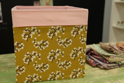 Customize cube boxes from Ikea w/your own fabric - how-to