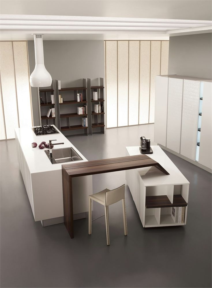 Kitchen with island by TONCELLI CUCINE #kitchen #minimal