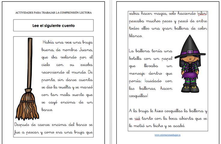 Os dejamos esta divertido cuento para que tus alumnos puedan trabajar la comprensión lectora.  DESCARGATE EL CUENTO EN PDF ACTIVIDADES PARA TRABAJAR LA COMPRENSIÓN LECTORA el cuento de la …