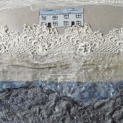 "CAROLYN SAXBY MIXED MEDIA TEXTILE ART: work from our exhibition ""inspired to stitch"""