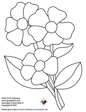 Stained+Glass+Patterns+Flowers | Free stained glass patterns/flowers free stained glass pattern - A4 ...