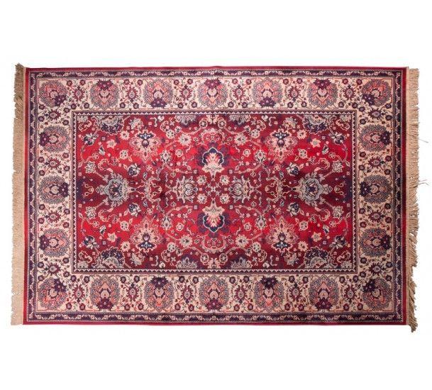 Dutchbone Bid Teppe 200 x 300 cm - Rød - Rødt vevet teppe