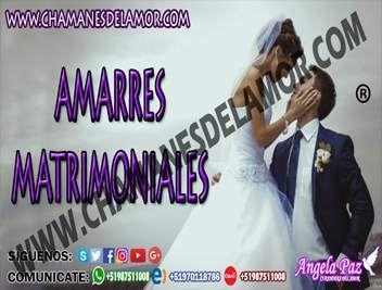 AMARRES MATRIMONIALES EN POCO TIEMPO ANGELA PAZ (LIMA)