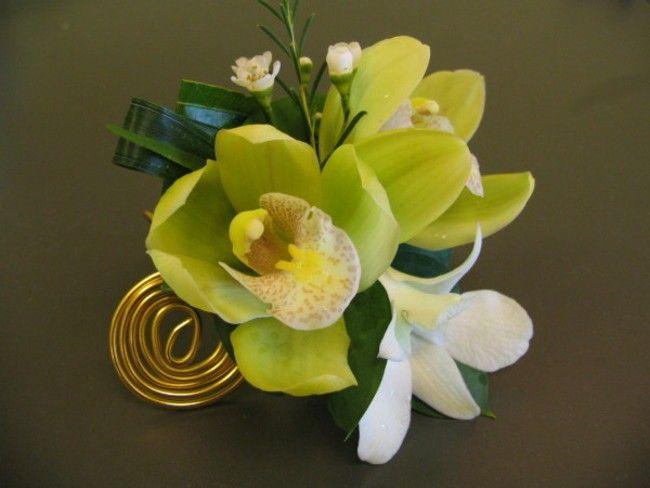 Bracelet de mariage, fleurs naturelles, vert et blanc, mariage, Le jardin d'Andrée-Anne, www.lejardin.ca