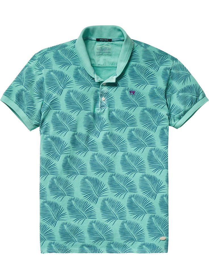 All-Over Printed Polo | Polo's | Men Clothing at Scotch & Soda