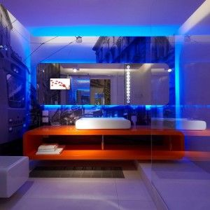 Cool Blue LED Light For Bathroom Wall