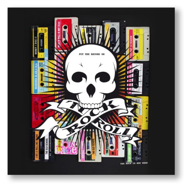 Tableau photo sur toile rock 39 n roll 50x50 photos and toile - Tableau contemporain colore ...