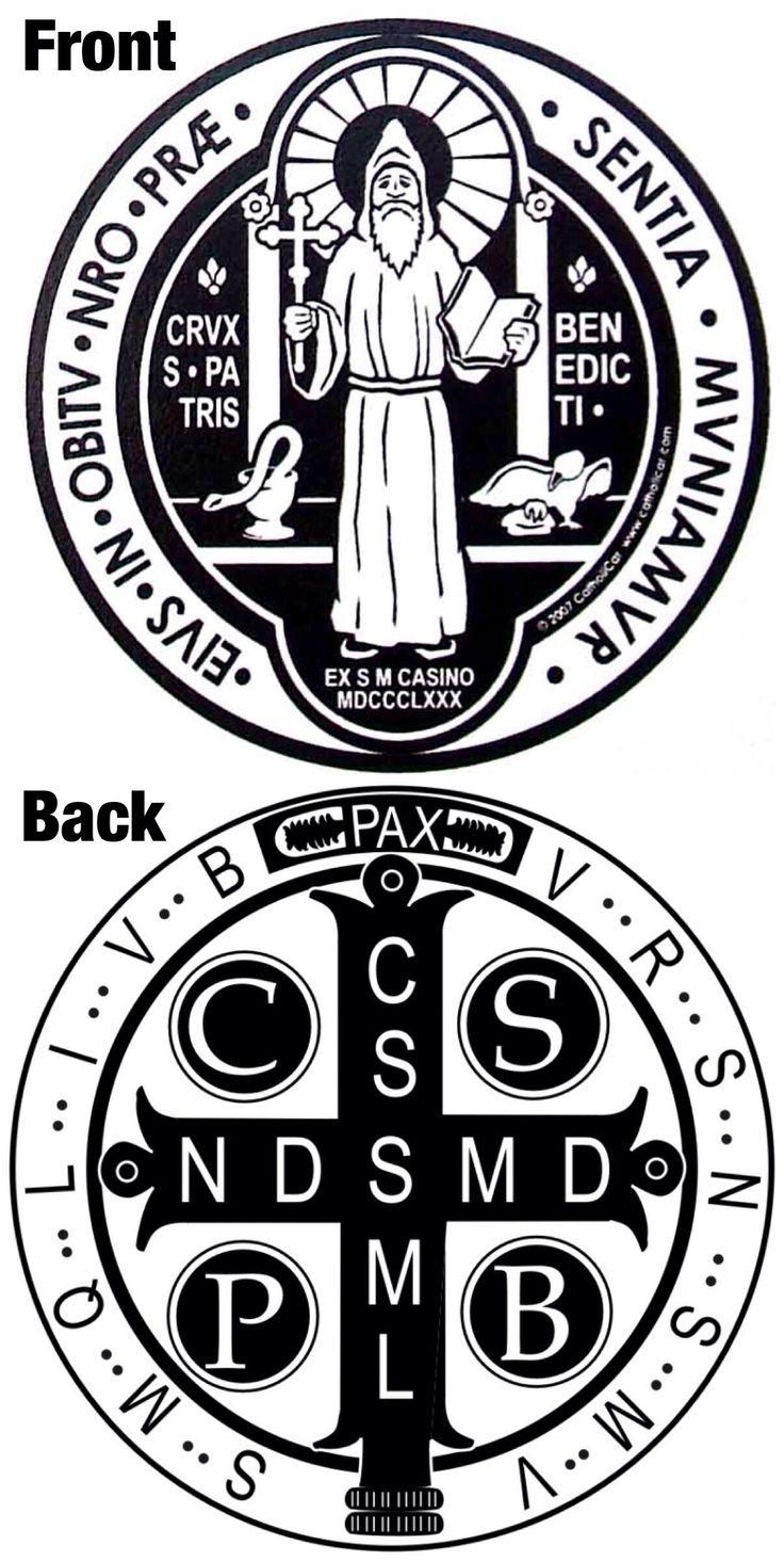 St. Benedict medal art