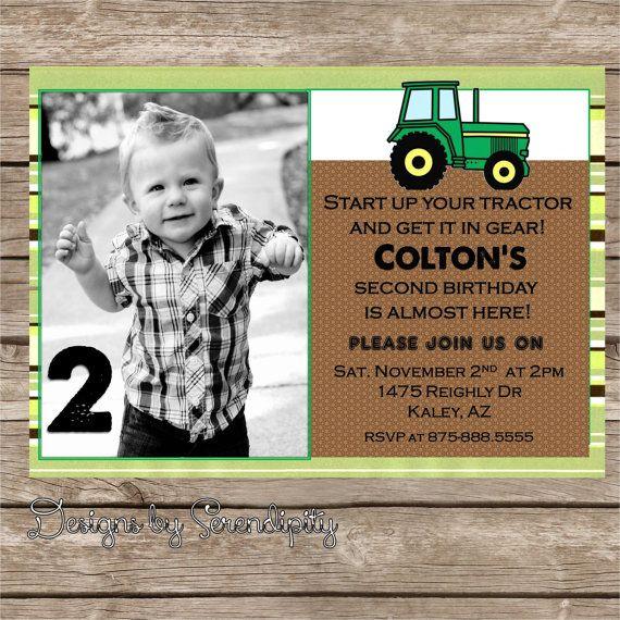 Best John Deere Party Ideas Images On Pinterest Birthday - John deere 2nd birthday party invitations