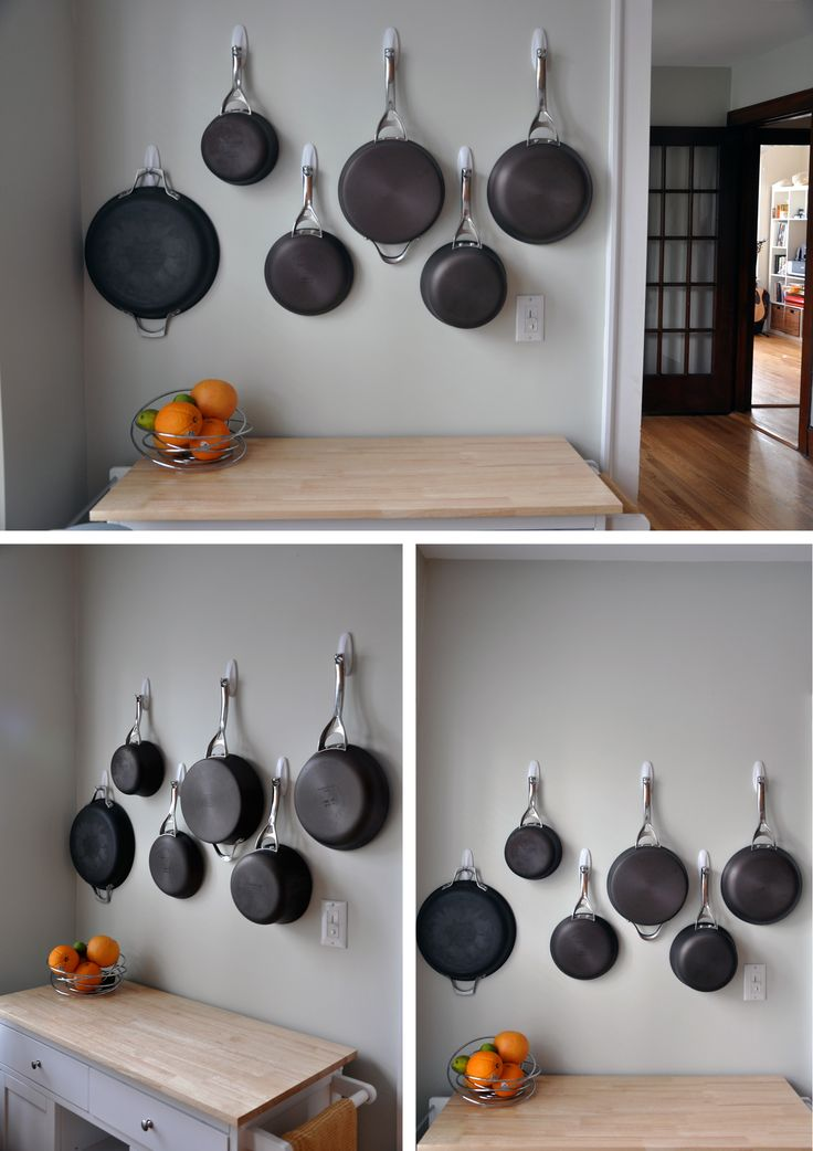 Space Saving With Pots Hardware Iron And Walls