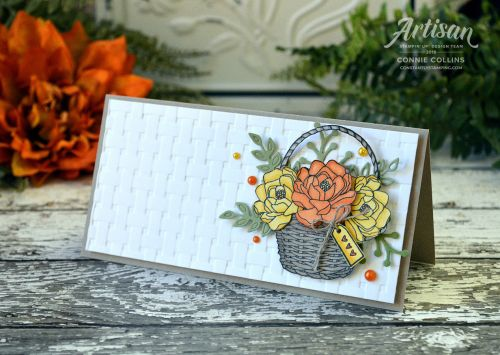 Sweet Basket Card created by Connie Collins at ConstantlyStamping.com