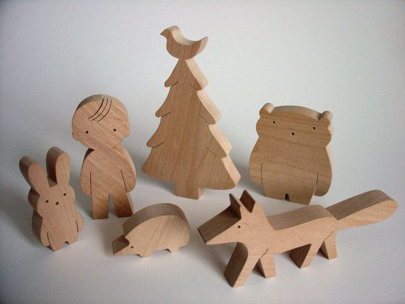 Handmade Black Alder Wood Baby Toys on Etsy.