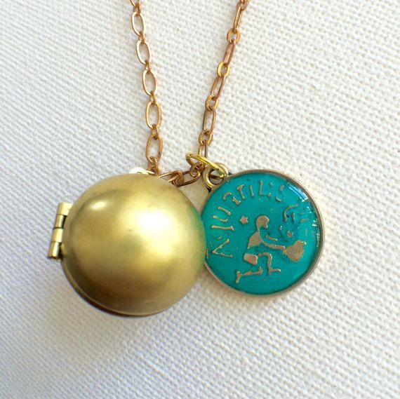 Zodiac Locket Ball Locket Horoscope Ball by PERCIVALandHUDSON