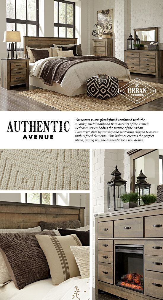Trinell Bedroom - Bed - Urban Foundry™ - Furniture and Accessories - Ashley Furniture #AshleyFurniture #Urban