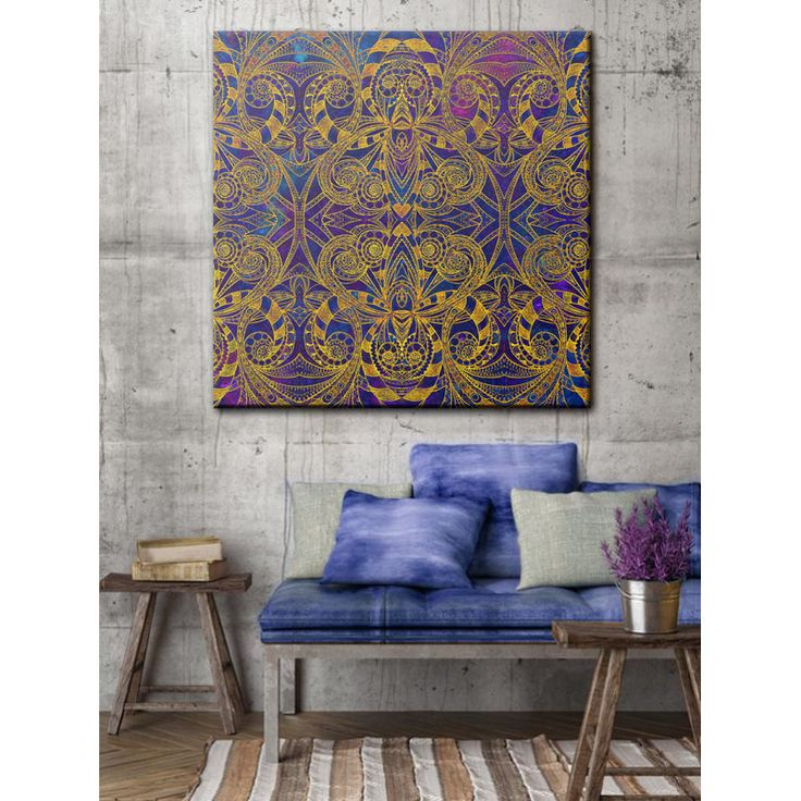 """SOLD Canvas Print """"Indian Style G233""""   https://society6.com/product/indian-style-g233_stretched-canvas#s6-2448875p16a6v28 #Society6 #canvas #print #wallart #home #decor #homedecor #zentangle #ethnic #tribal #persian #arabesque #indian #blue #gold"""