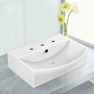Royal Purple Bath Kitchen Ceramic 19.5″ Bathroom Sink with Faucet and Overflow