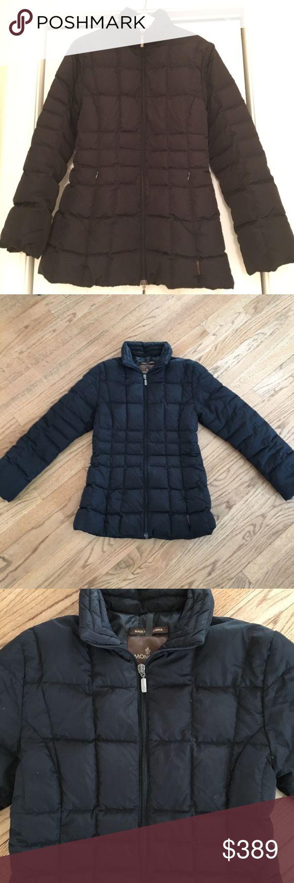 Moncler Black down puffer coat sz 0 XS Down puffer coat