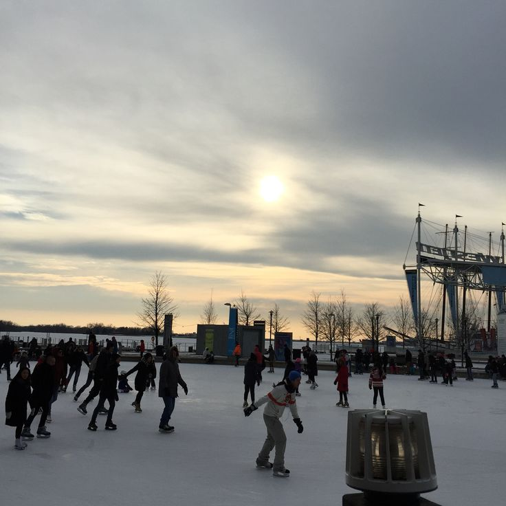 Ice rink harbour front Toronto...