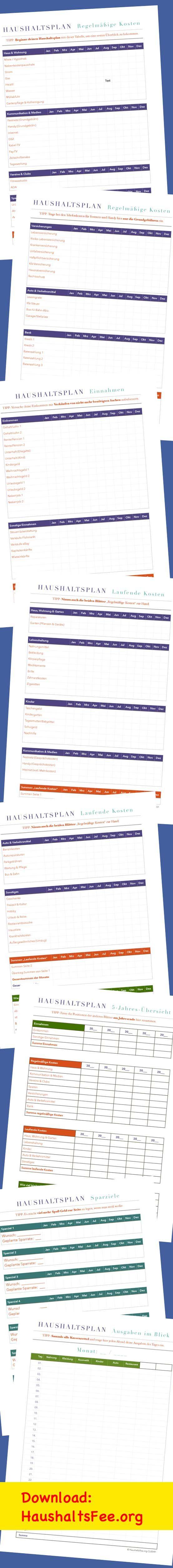Mit diesen sechs verschiedenen Listen macht Haushaltsplanung Spaß. http://haushaltsfee.org/2014/04/08/einnahmen-und-ausgaben-einfach-im-blick-behalten/