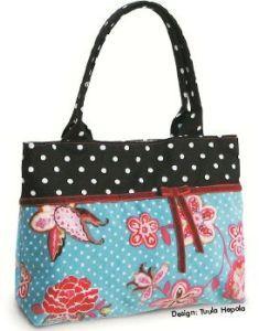 Dotted Dream purse, a free pattern by Ottobre http://www.ottobredesign.com/fi/kaavat/pdf/fluwelen_tas_NL_5-07.pdf