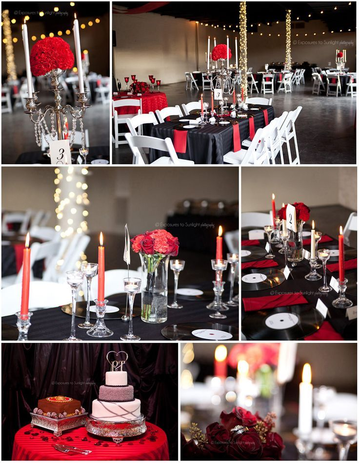 Our glam rock n roll wedding photos with records, ecclectic music, pinup hair and makeup, and arm garters instead of boutonnieres! ©+Exposures+to+Sunlight+Photography www.exposurestosunlight.com