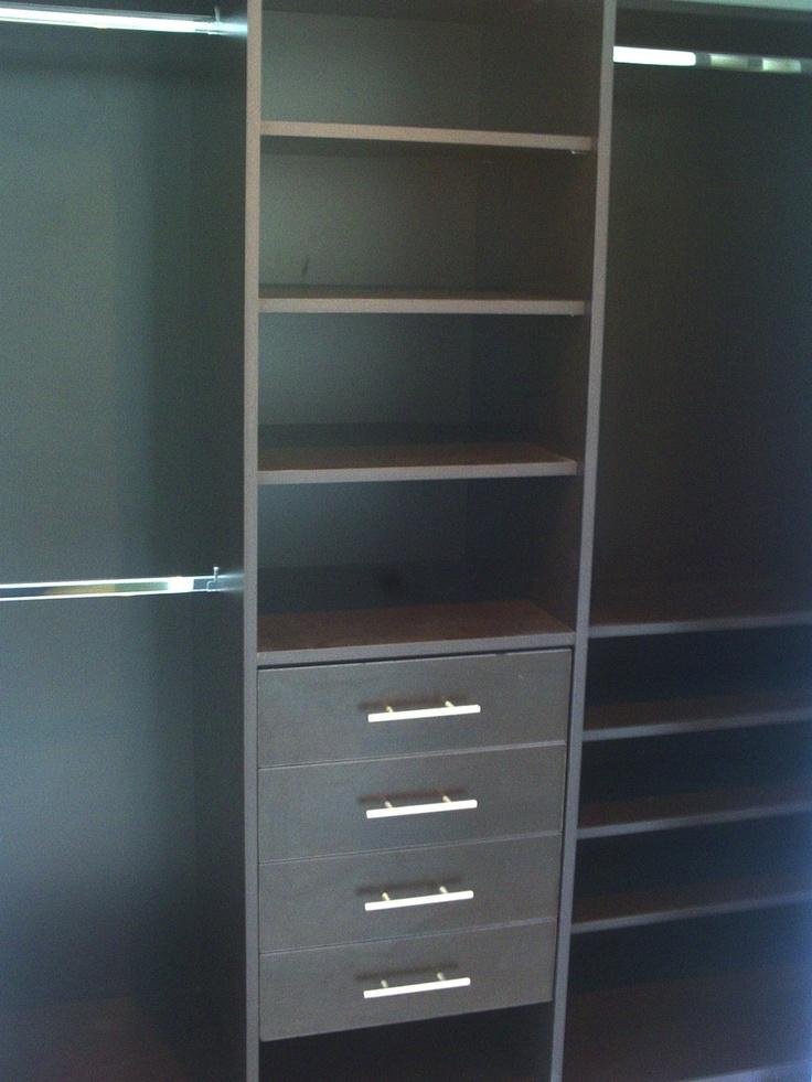 Espresso Melamine Closet (Wenge Color)  Want This Closet! | HOME |  Pinterest | Espresso, Shelf Supports And Bedrooms