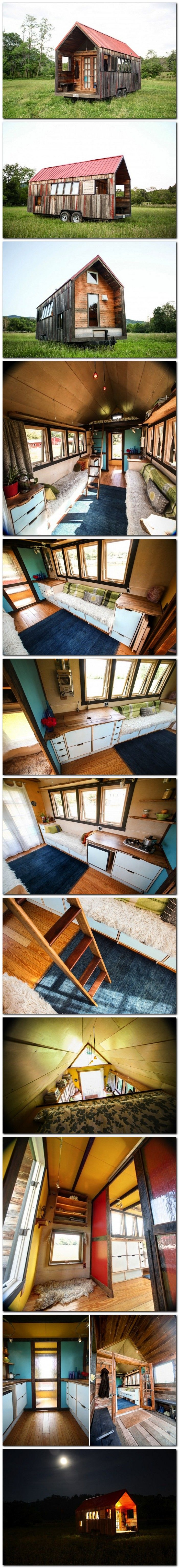 This is just to neat!! 200 Square Foot Pocket Shelter Mobile House by Aaron Maret #vintage