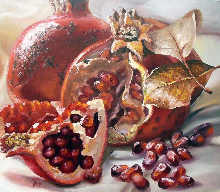 Pomegranates Painting  - Pomegranates Fine Art Print