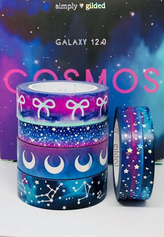 Simply Gilded WASHI SAMPLES Cosmos Galaxy 12.0