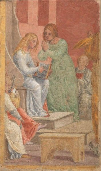 Bernardino Luini, L'infanzia di Maria Vergine al Tempio, 1520-21 | Pinacoteca di Brera
