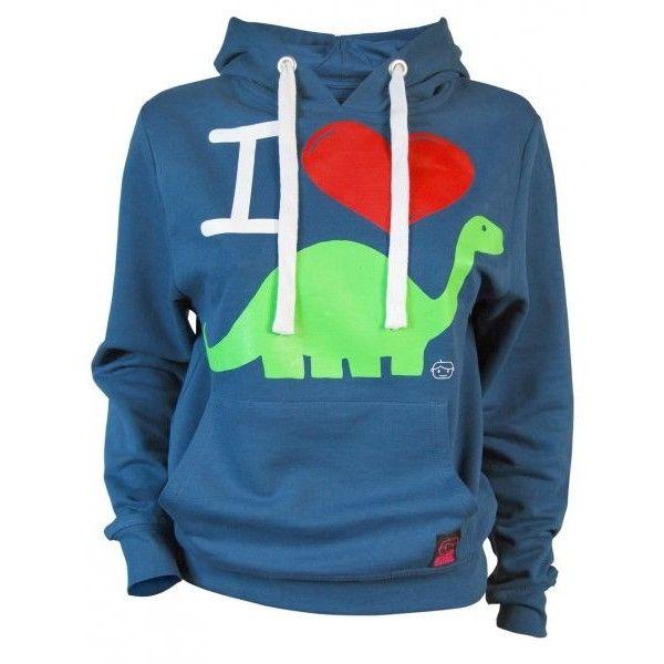 Ladies I Love Dinosaurs Hoodie by Goodie Two Sleeves ❤ liked on Polyvore