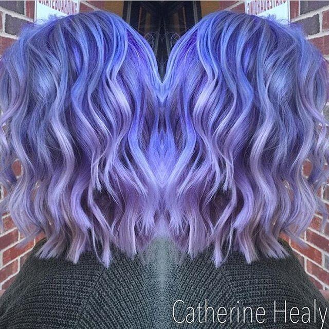 """63 Likes, 5 Comments - Sugar Salon & Spa, Chalfont PA (@sugar_salon_spa) on Instagram: """"Lavender love 💜 @cshair_styles . . . . #haircolor #purplehair #pravana #rainbowhair #mermaidhair…"""""""