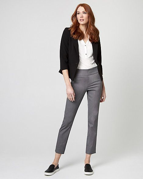 Knit Crêpe Button-Front Blazer - This classic, one-button blazer adds an instant dose of style to any outfit. #affiliate, #womensfashion, #officewear, #blazier, #womensjacket