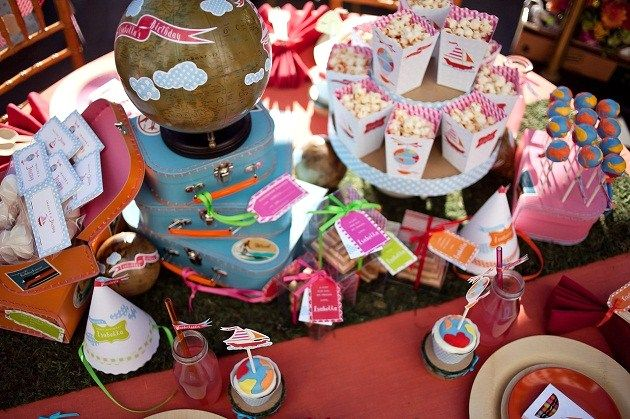 Kids Travel Theme Party – 'Imagine A Journey'. Spin off ideas for games would be fun to create.