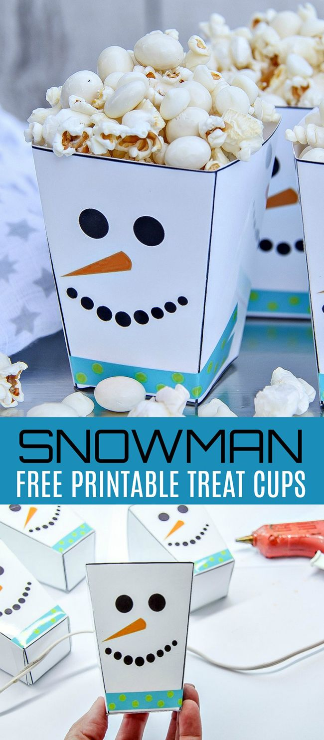 Printable Snowman Treat Cups Craft - Free Printable