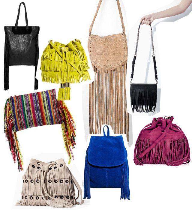 Tendencias low-cost bolsos y mochilas con flecos primavera 2014 Urban Outfitters Topshop Zara Asos