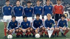 One of the great 'what ifs' - the Yugoslav side that won the 1987 World Junior Cup would have formed the basis of their 1992 European Championships team, had they been allowed to compete. Prosinecki, Boban, Suker from this team plus Savicevic, Pancev, Jugovic, Boksic, Katanec, Stojkovic etc etc. Frightening.