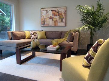 Living Room Gray Yellow Brown Design, Pictures, Remodel, Decor and Ideas - page 5